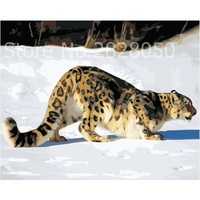 Hunting Leopard Animal Painting By Numbers Modern Bedroom Decor Canvas Art Poster Picture Cuadros Decoracion