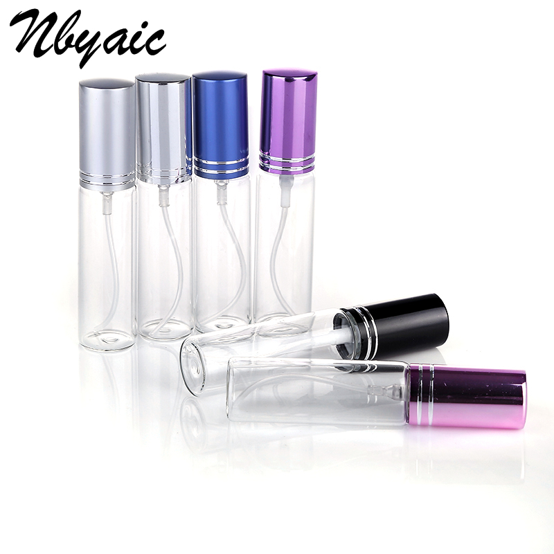 Nbyaic 1Pcs 5ml 10ml Travel Portable Perfume Bottle Spray Bottles Sample Empty Containers Atomizer Mini Refillable Bottles