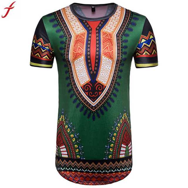 170f7bb7a1c Tshirt Men 2018 Summer New Fashion Brand Clothing African Print Short  Sleeve T Shirt harajuku O Neck T-shirt Tees Tops DropShip