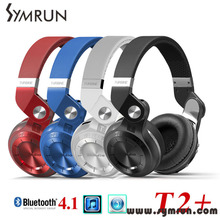 Symrun T2 Plus Tf Card+Fm Radio Function Stereo Bluetooth Headset Noise Canceling Headphone Metal Headphones