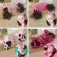 New Kids Baby Girls Bebe Children Lace Kids Baby Girl False Pigtail Headbands Hair Band Hairnet Accessories Head Band Headwear