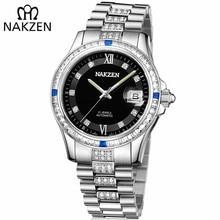 ea17a2961d0 NAKZEN automática marca de lujo hombres reloj mecánico hombre elegante  diamante pulsera Relojes Miyota reloj Relogio