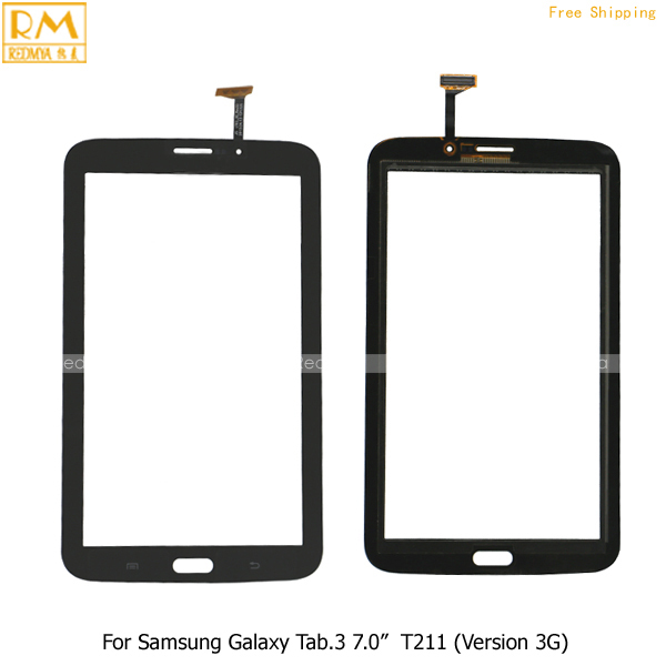 """5pcs/lot For Samsung Galaxy Tab 3 7.0"""" SM-T211 Digitizer Touch Screen Outer Glass Panels Front Replacement Repair Phone Parts"""