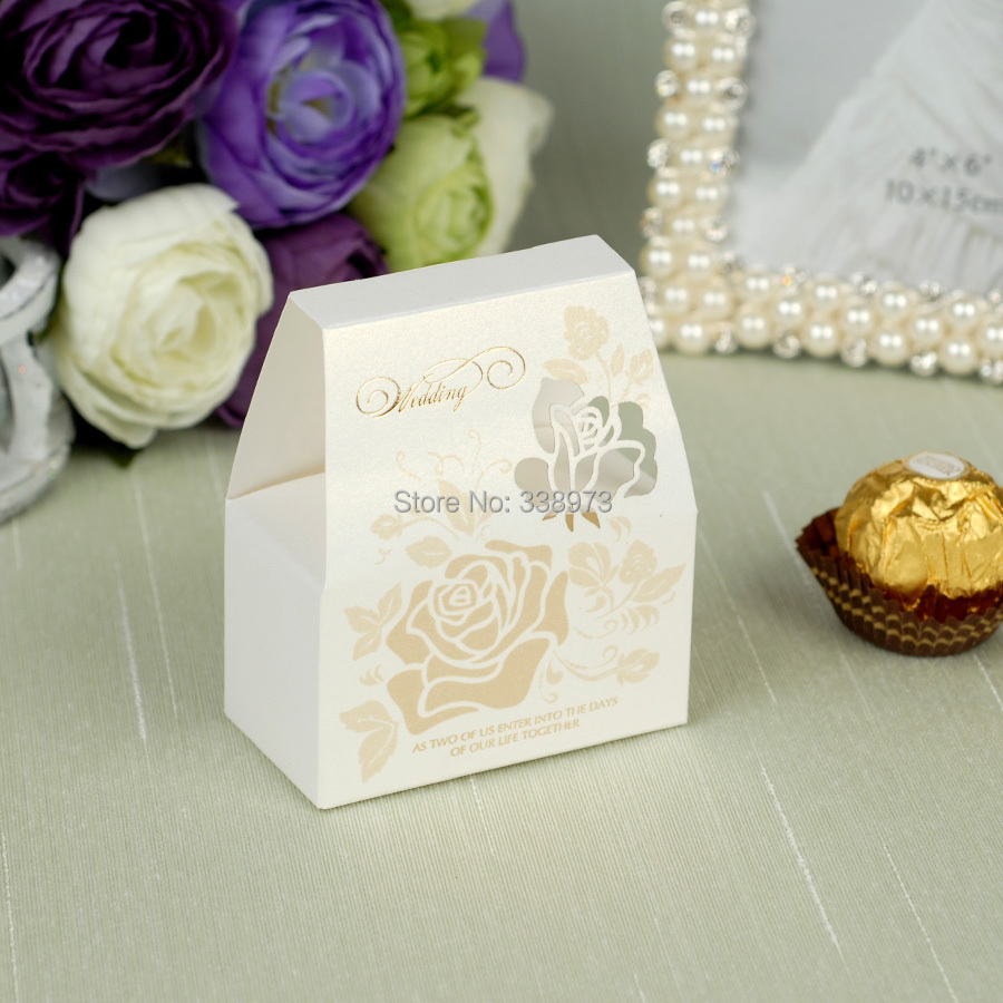 White Candy Box Wedding Supplies Wedding Paper DIY Boxes Handmade ...
