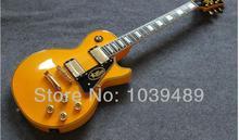 Custom shop gelbe elektrische gitarre ems-freies verschiffen