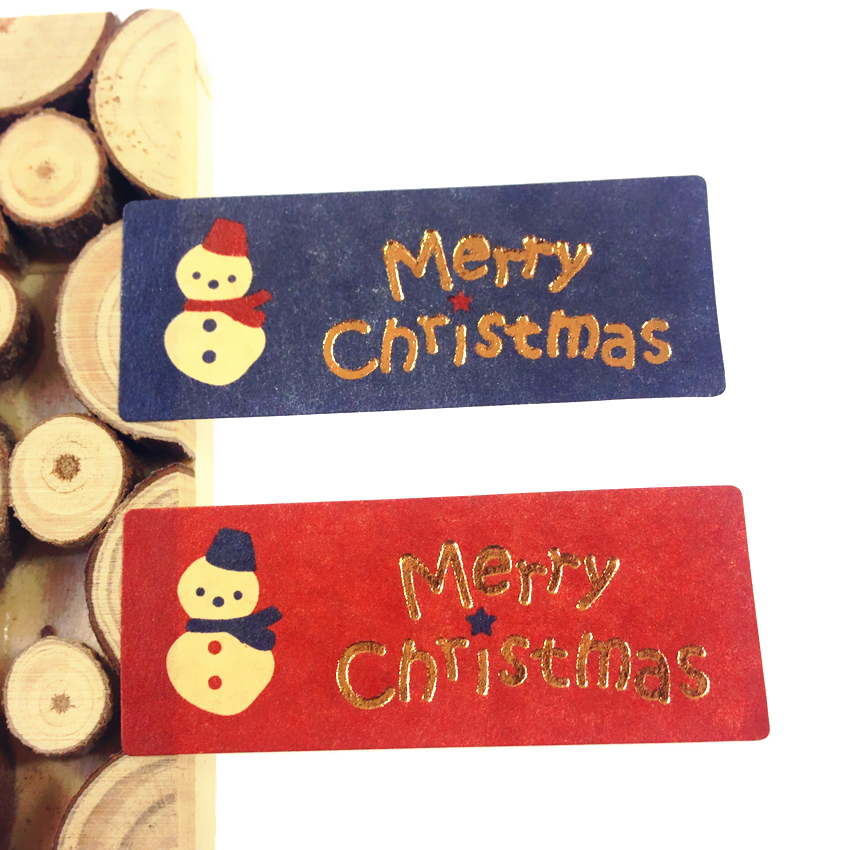 100PCS/Lot  Vintage Snowman Merry Christmas series DIY Multifunction Seal Sticker/ Gift package Label my snowman activity sticker book