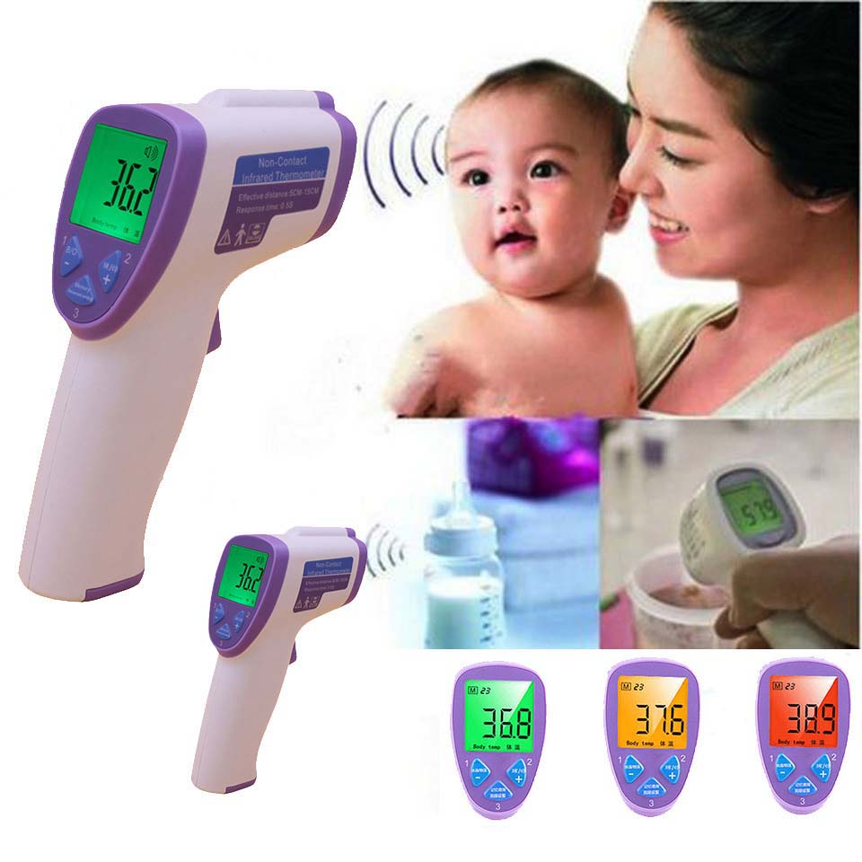 child Non contact Infrared Body thermometer for baby kids digital fever infant termometer medical clinical forehead temperature cofoe forehead infrared thermometer body temperature fever digital measure meter ir non contact portable tool for baby adult