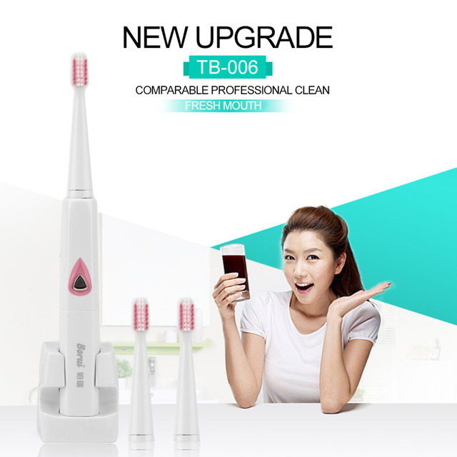 TB-006 Wireless Inductive Charging Electric Toothbrush Children Adult Comfortable Ultrasonic Sonic Electric Tooth Brush