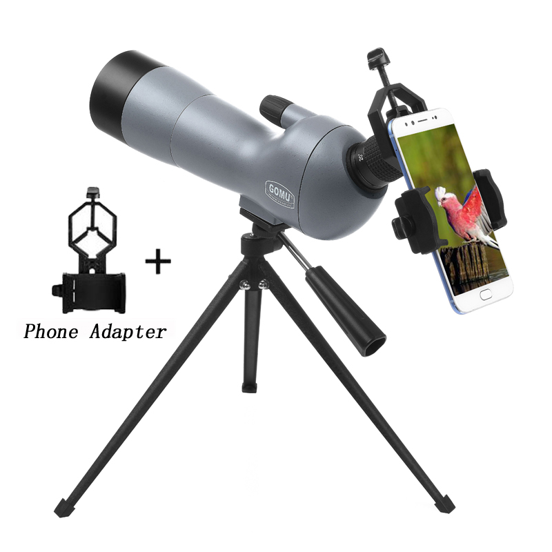 Powerful 20-60X60 Spotting Scope Binoculars Monocular Telescope For Bird Watching Camping Backpacking With Tripod Phone Case цена