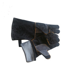 Leather electric welding gloves, microwave oven, heat insulation, high temperature, outdoor work protection gloves