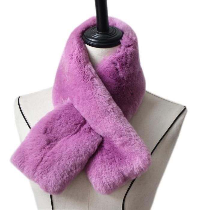 Harppihop Rabbit Fur Scarf High Quality Full Pelt Luxury Big Rex Rabbit Fur Scarves Thick Warm Rabbit Fur Scarfs Fashion Women