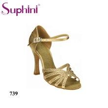 Free Shipping 2017 Suphini Salsa Shoes Woman Dance Shoes Rhinestone Latin Shoes Woman Latin Dance Shoes