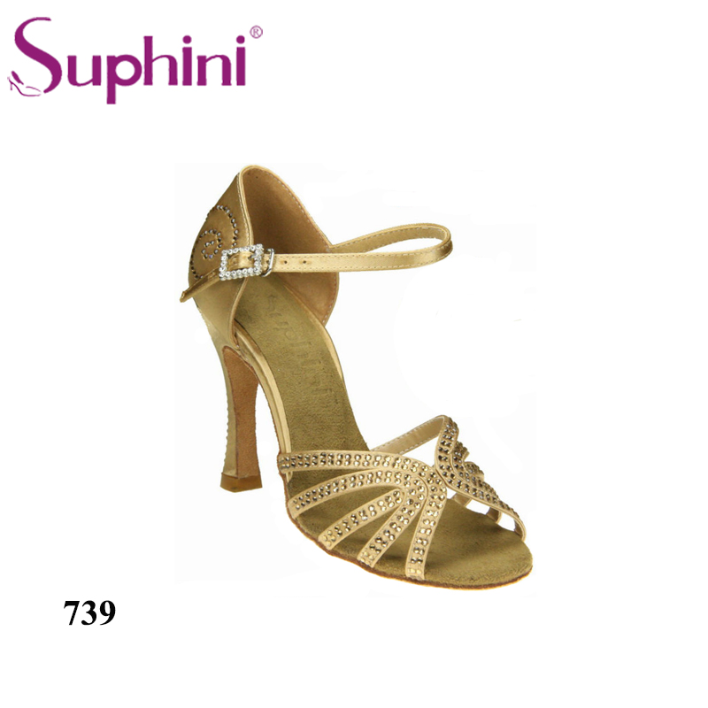 Free Shipping 2017 Suphini Salsa Shoes Woman Dance Shoes, Rhinestone Latin Shoes, Woman Latin Dance Shoes