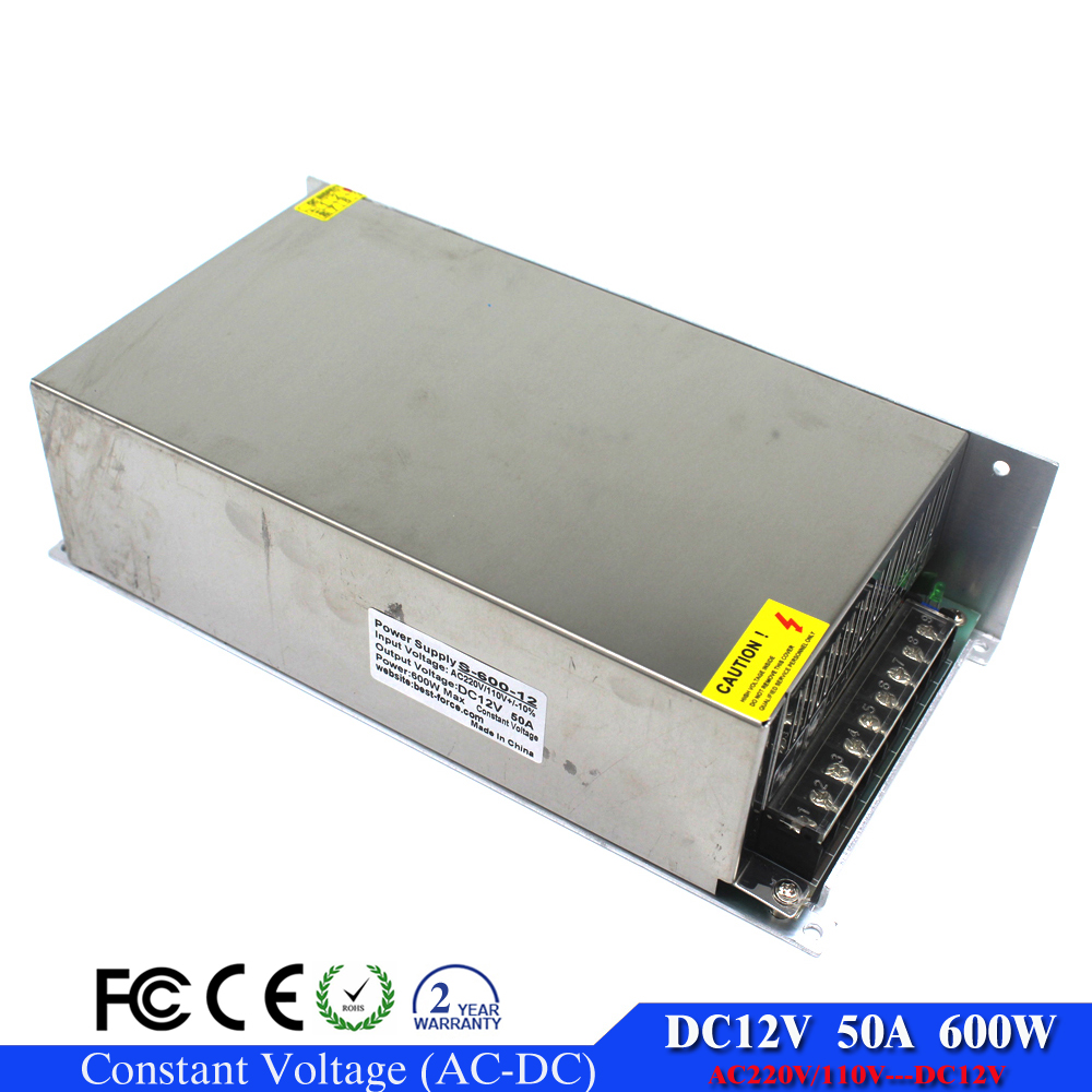 Single Output 600W 50A DC 12V power supply Switching Transformers ...