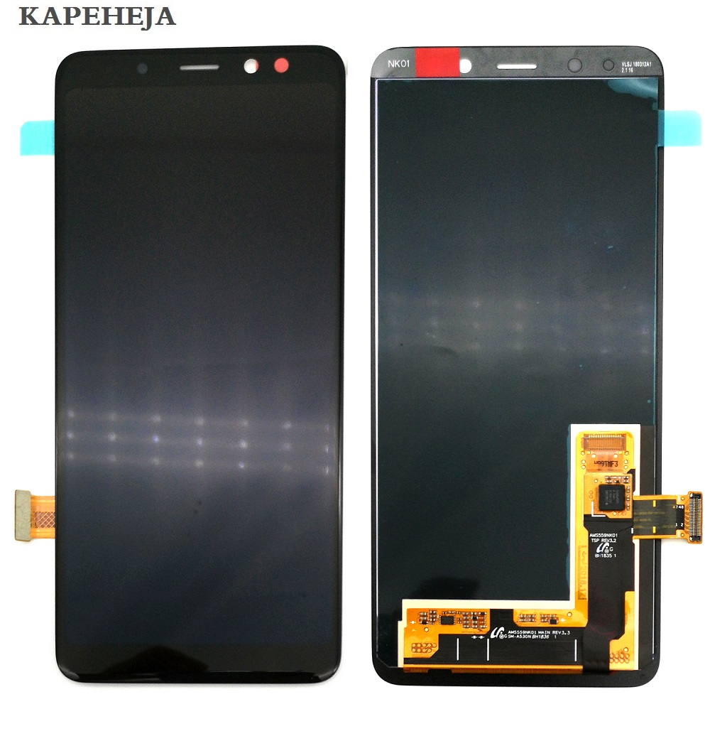New Super AMOLED LCD Display For <font><b>Samsung</b></font> Galaxy A8 2018 A530 <font><b>A530F</b></font> A530N LCD Display Touch <font><b>Screen</b></font> Digitizer Assembly image