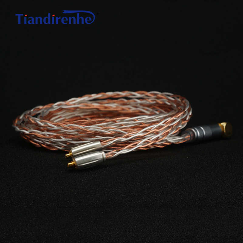 792 rdzeni MMCX kabel słuchawek ręcznie robione 8 akcje srebro miedź mieszane dla Shure se215 se535 se846 słuchawki drutu