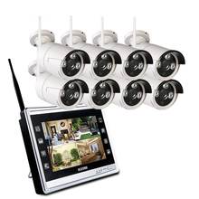 Outdoor Video Surveillance Kit 1080P WIFI CCTV System 12.5 inch Monitor NVR CCTV Camera Security System