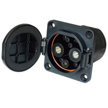 EVSE DC EV 80A 125A 200A 250A Car Side  DC Female Socket For Electric Car Vehicle Charging 4 Point Fixing