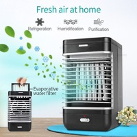New Handy Air Cooler Table Desktop Fan Cooler Humidifier Portable Air Conditioning Cooler Fan Cool Soothing Wind for Home Office