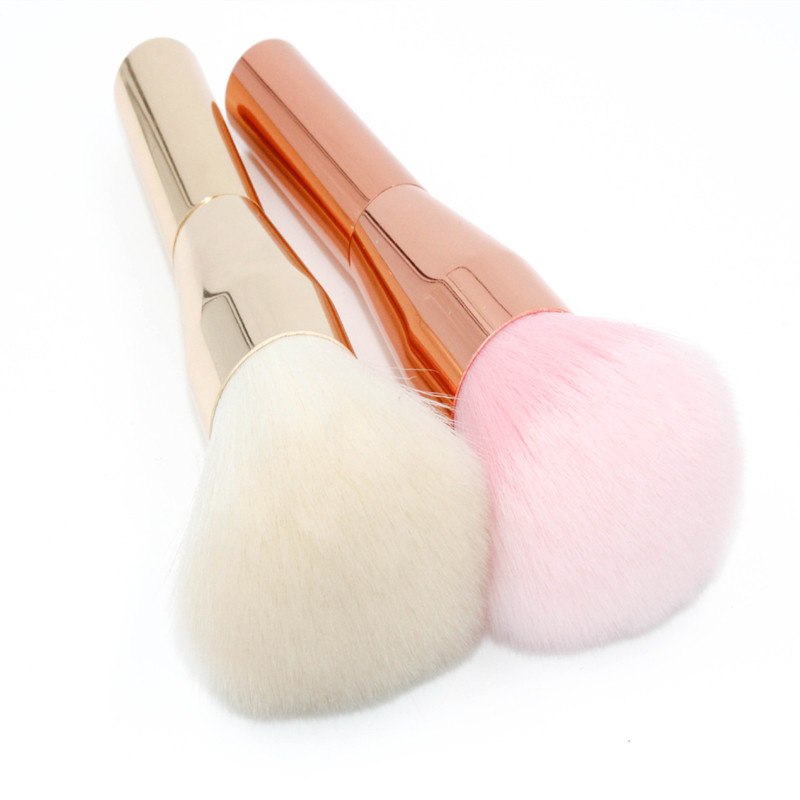 Rose Gold Powder Blush Brush Professional Make Up Brush Large Cosmetics Makeup Brushes Foundation Make Up Tool very big beauty powder brush blush foundation round make up tool large cosmetics aluminum brushes soft face makeup free shipping