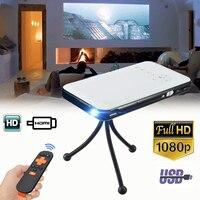 Мини светодио дный HD DLP Портативный проектор умный дом Театр Кино кино видео