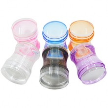 1pc 4cm Plastic Handle Clear Nail Stamper Scraper Set Silicone Jelly Head with Cap DIY Stamping Art Kits