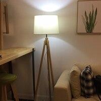 living room Floor lamps professional lighting bedroom industrial lighting Nordic European wood floor lamp floor lights fabric