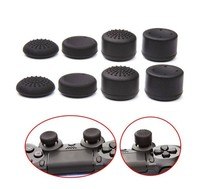 лучшая цена 8pcs Enhanced Silicone Analog Controller Thumb Stick Grip Cap Skin Cover for Sony PS4 Controller PS4 Slim PRO xbox one x