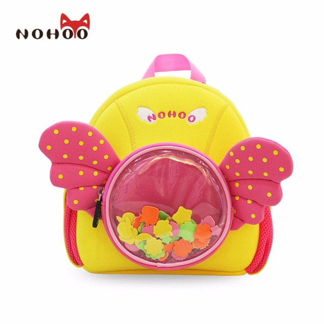NOHOO Waterproof School Bags For Girls Boys Cartoon Angel  Fashion Printing Backpack Mochilas Infantis School Bag Kids Bag