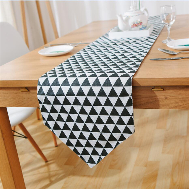 Retro Black And White Lattice Table Mats And Placemat Sets Table Decoration  Party Decoration Table Runner