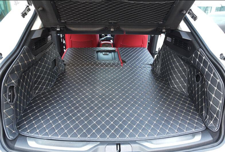 Full Rear Trunk Tray Liner Cargo Mat Floor Protector foot pad mats for 16 17 18 Maserati Levante 2016 2017 2018 (6colors)