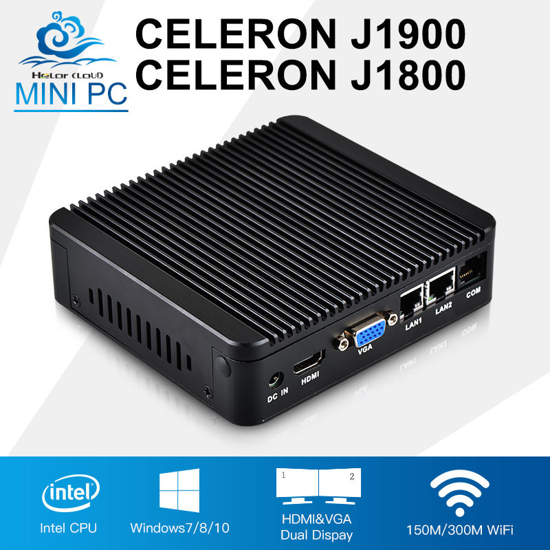 Mini PC Celeron j1900 Quad Core 2 Intel 82583V Gigabit Ethernet Celeron j1800 Mini Computer Pfsense Router Industrial Computer partaker r7 firewall networking appliance celeron 1037u 2gb ram 8gb ssd with 8 intel 82583v gigabit ethernet ports 2 sfp ros