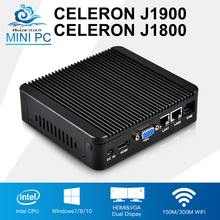 Mini PC Celeron j1900 Quad Core 2 Intel 82583V Gigabit Ethernet Celeron j1800 Mini Computer Pfsense Router Industrial Computer(China)