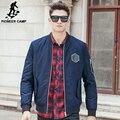 Pioneer camp nuevo otoño invierno gruesa capa de la chaqueta de los hombres marca de ropa de moda de calidad superior caliente masculina chaqueta ocasional 677117