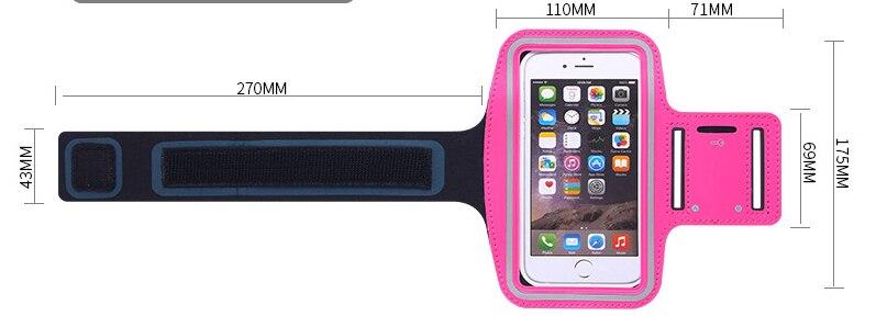 العالمي الرياضة الجري سوارلهاتف آيفون X 7 8 6s 6 Plus لسامسونج S9 S8 ل شاومي الذراع سير شريطي حقيبة قاعة رياضة الحالات الهاتف 6 بوصة