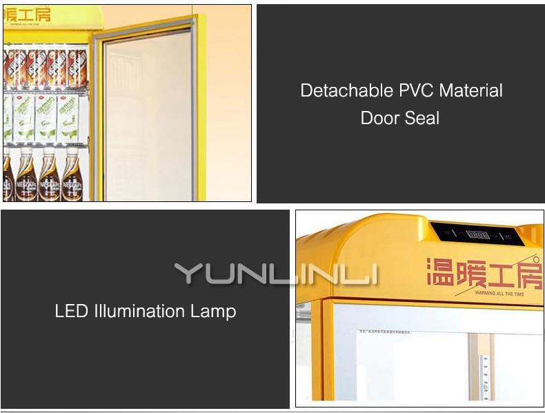 Commerciële Isolatie Verwarming Kabinet Display Houder Drinken Showcase Warmte Behoud Doos Drank kast SR 65 - 6