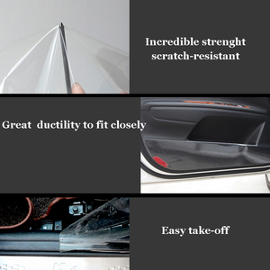 Image 5 - Upgraded 15CM*4M Car Stickers Door Lacquer Protect Film Thick Anti Scratch Transparent Car Cover Car Accessories