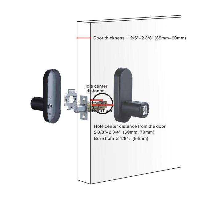 Smart Black Stainless Steel Lock