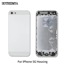 Metal Battery Back Cover Housing For iPhone 5 5G Door Rear Case Chassis Frame Repair Part body Custom IMEI