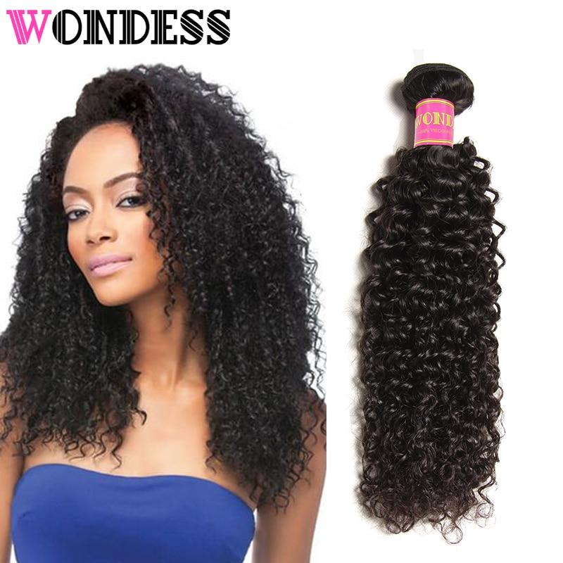 Wondess Hair Malaysian Curly Hair 1 Piece Natural Color Virgin Hair Bundles 100% Unprocessed Human Hair 8-26inch Can Buy 3/4pcs