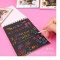 Corea del DIY Papel Pintura Garabato Dibujo Infantil Juguetes Bebé Aprenda Dibujar Plumas Mágicas Arañazos Nota Libros Para Colorear Los Niños graffiti Juguete
