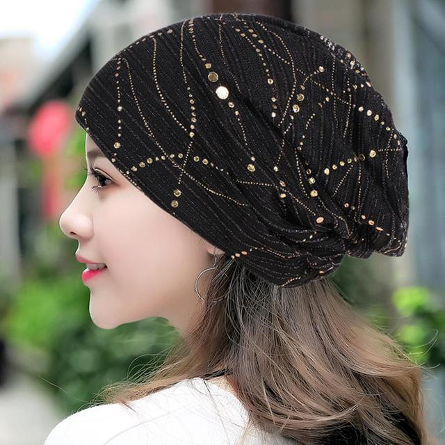 7d060d40c4345 Women s Beanie Hat Chemo Hats Cotton DIY All-matched Turbano Casual Women s  Hat Ins Hot Type 2019 Newest