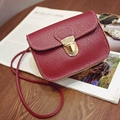 Hanup 2016 New Lovely Girl Candy Color PU Leather Mini Small Adjustable Shoulder Bag Casual Handbag Messenger Crossbody Bags
