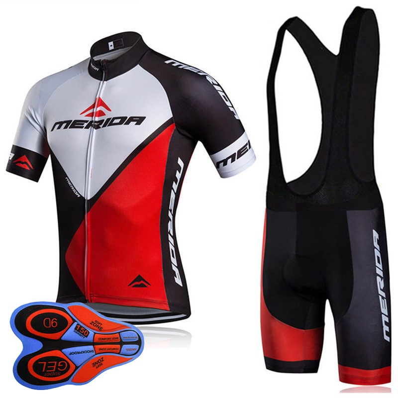 3ecb5390d 2018 New Summer Short Sleeve Cycling Jersey Set Quick Dry Team MERIDA Ropa  Ciclismo MTB bicycle Clothing Road Bike Clothes B2803