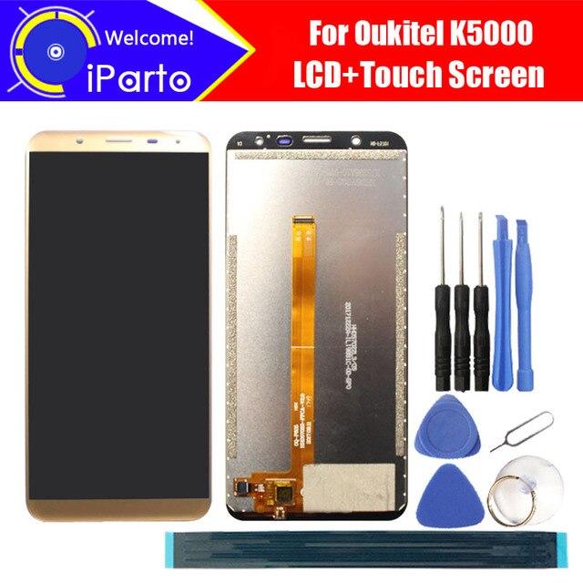 5.7 inç Oukitel K5000 LCD ekran + dokunmatik ekranlı sayısallaştırıcı grup 100% orijinal yeni LCD + dokunmatik Digitizer için K5000 + araçları