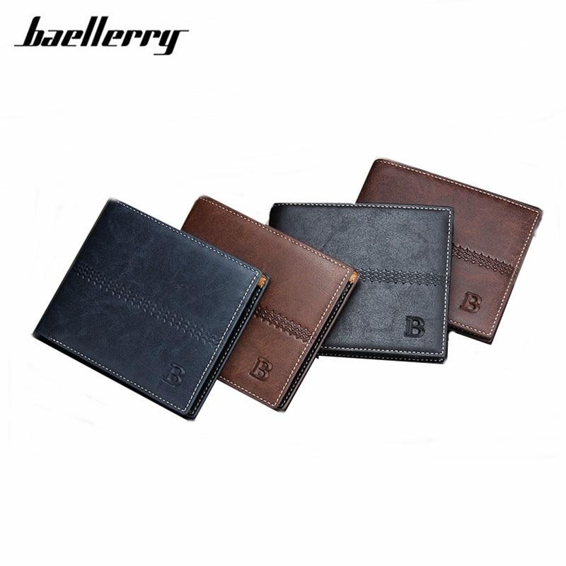 Wallet Men Leather Wallets Male Purse Money Credit Card Holder Genuine Coin Pocket Brand Design Money Billfold Clutch H020