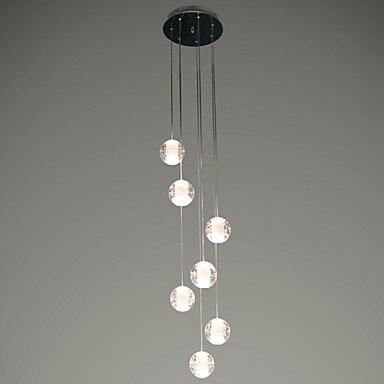 7 голов хрустальный шар современные светодиодные Открытый Подвесные Светильники столовая hanglamp Освещение в помещении светильник Lampara Colgante ...