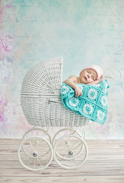 HUAYI Pastel wallpaper and light wood floor printed photo studio backdrop newborn photography backdrops background D-9633