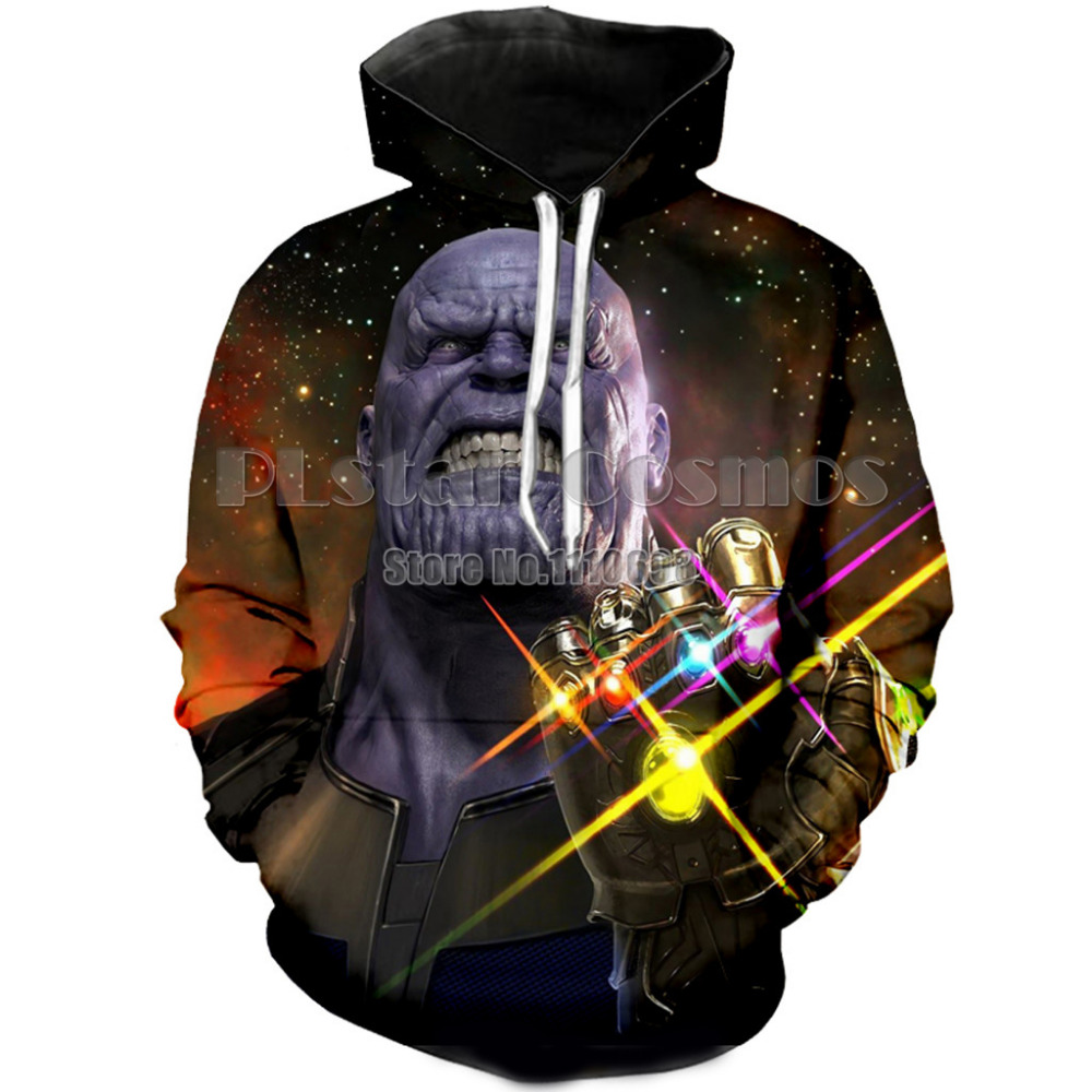 PLstar Cosmos 3D Hoodies Men women Thanos 3D Full Print Anime Hoodie Sweatshirts Sportswear Long Sleeve Streetwear Top Pullover