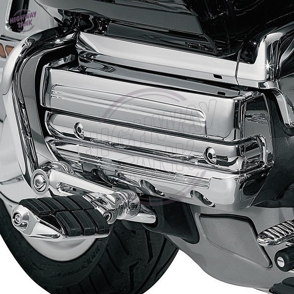 Chrome Motorrad motor rahmen Seite abdeckungsfall für Honda Gold ...